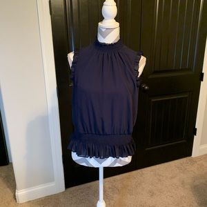 JCREW | Sleeveless Blouse | 6 | Navy | NWOT